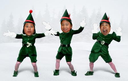 Новогодние танцующие эльфы поздравление